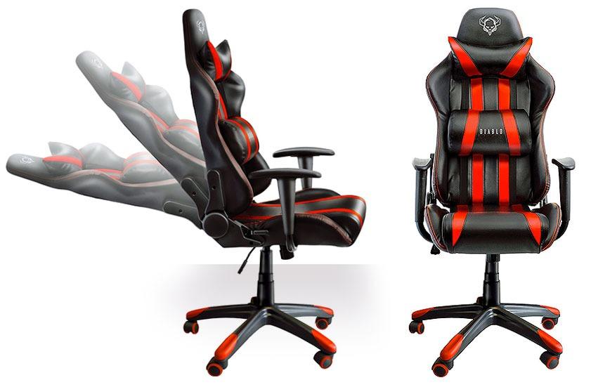 Sedia da gamig dal design sportivo da corsa, ergonomica
