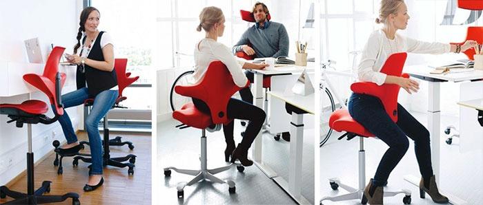 HAG Capisco la sedia ufficio ergonomica per l'utilizzo su postazioni di lavoro alte