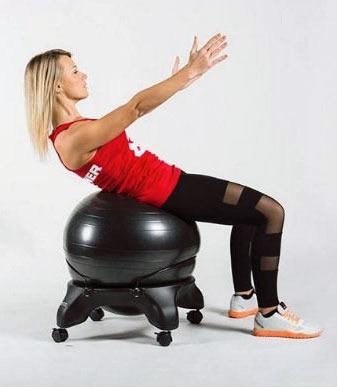 seduta a palla per esercizi, ergonomica, gonfiabile