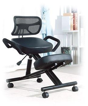 Sedia inginocchiatoio ergonomica con schienale