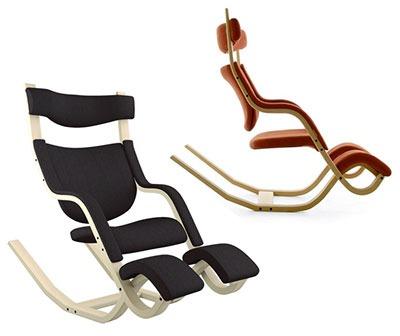 Gravity Balans di Varier - sedia a dondolo ergonomica basculante