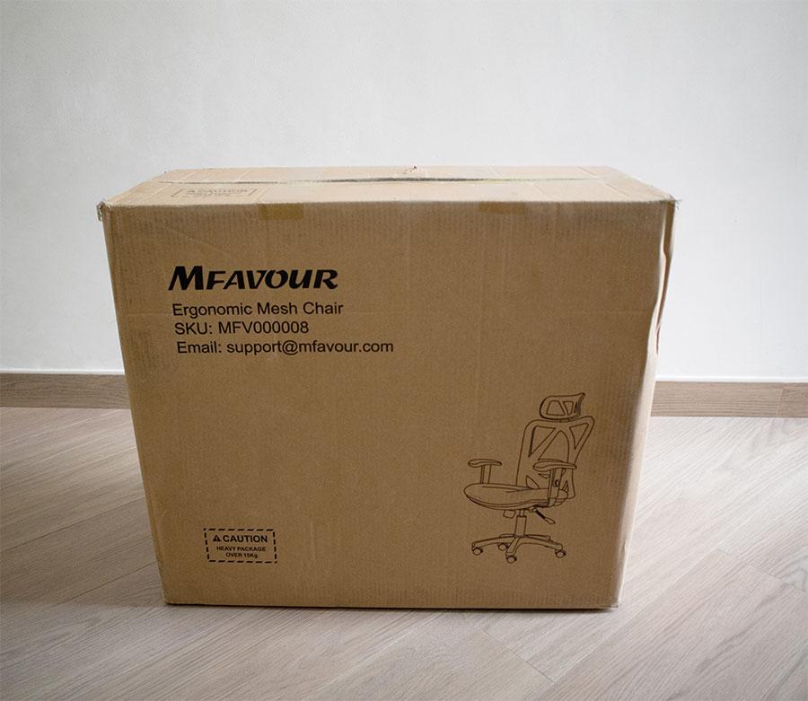Scatola sedia ergonomica in rete Mfavour